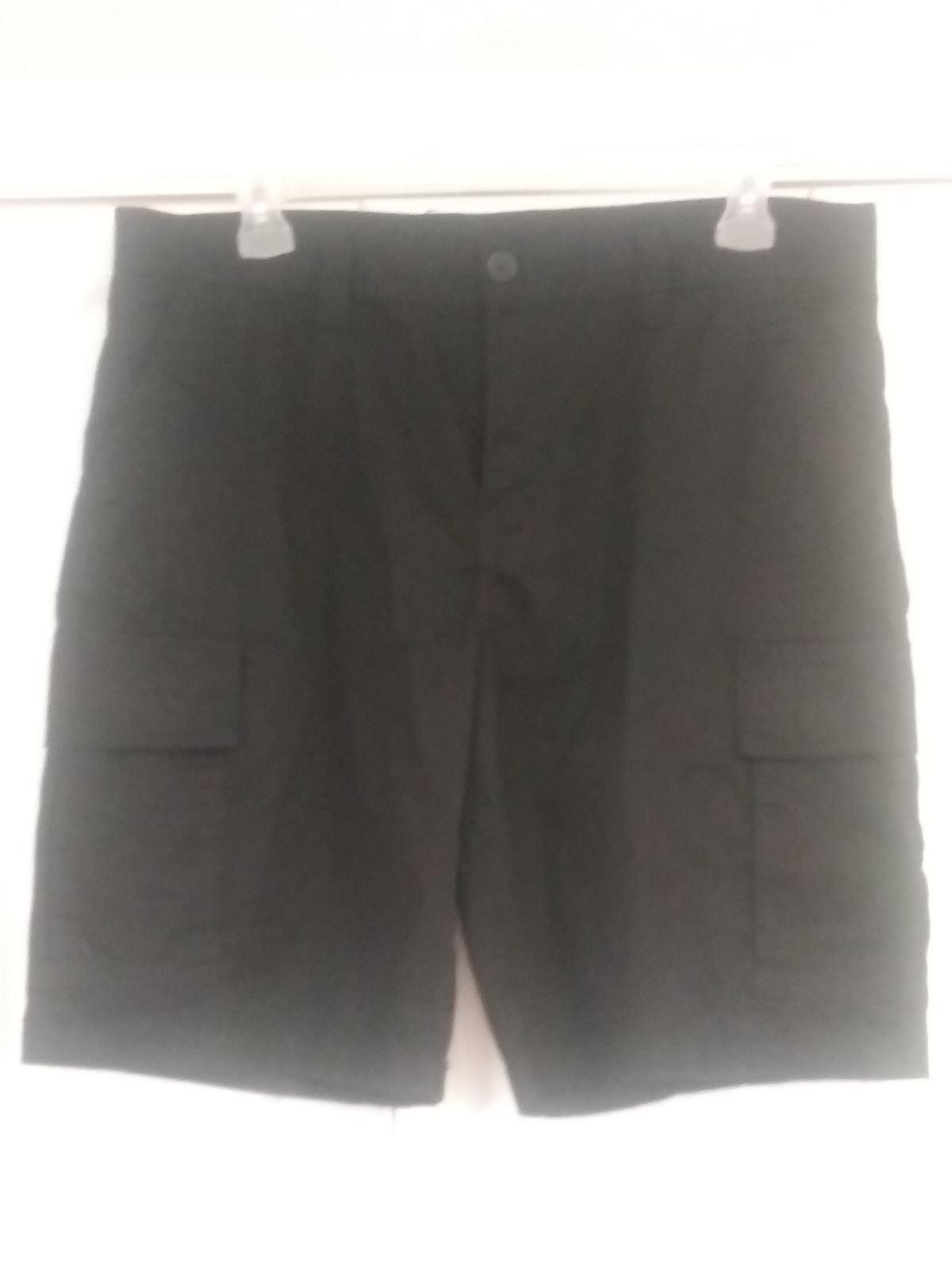 New Mens 38 Black Cargo Shorts