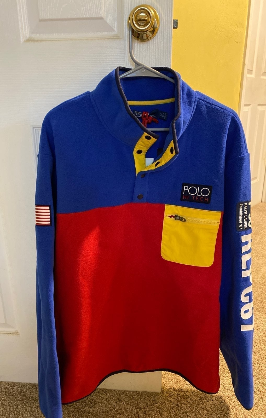Mens Polo Ralph Lauren fleece top sz Xl