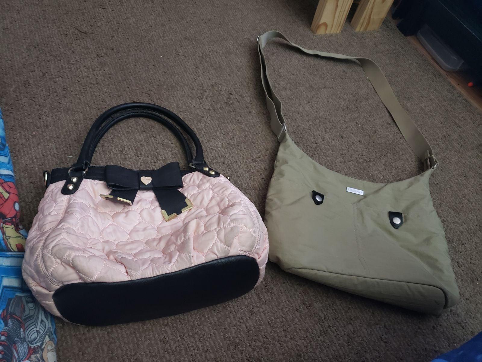 2 purse lot Betsey Johnson & baggallini