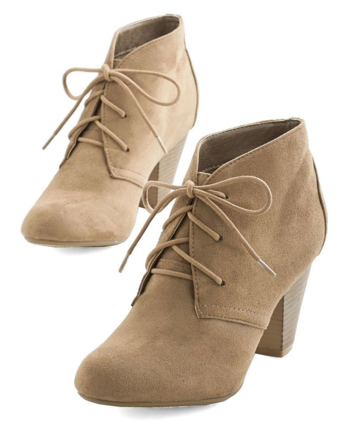 Modcloth Faux Suede Lace-Up Booties 6