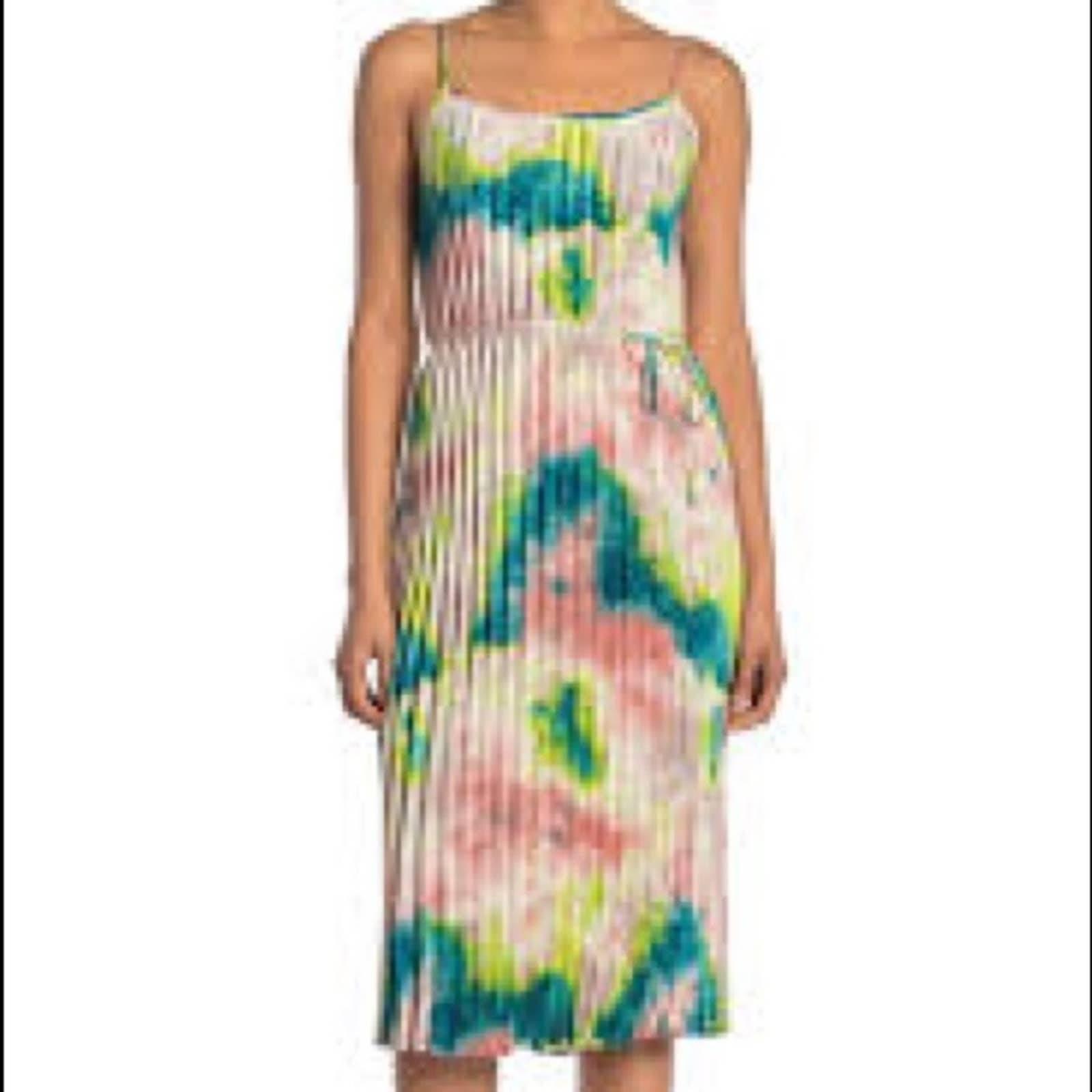 Free Press Tie Dye Pleated Dress Sz L