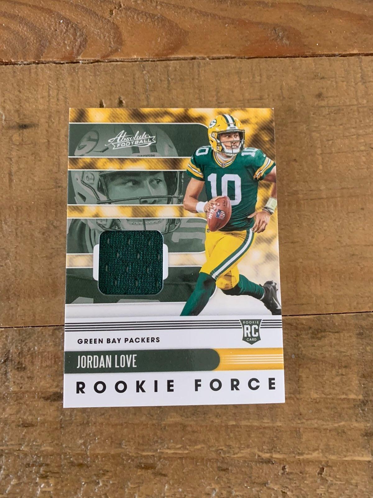 Jordan Love Rookie Panini Jersey card