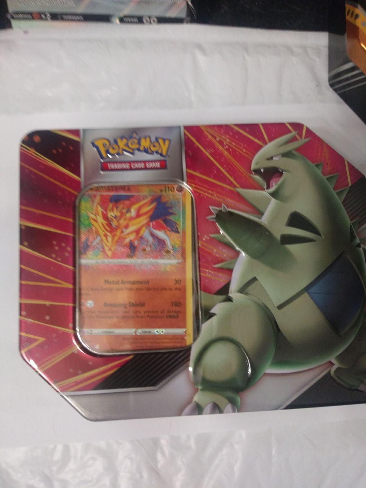 Pokemon Tyranitar Tin Variety packs