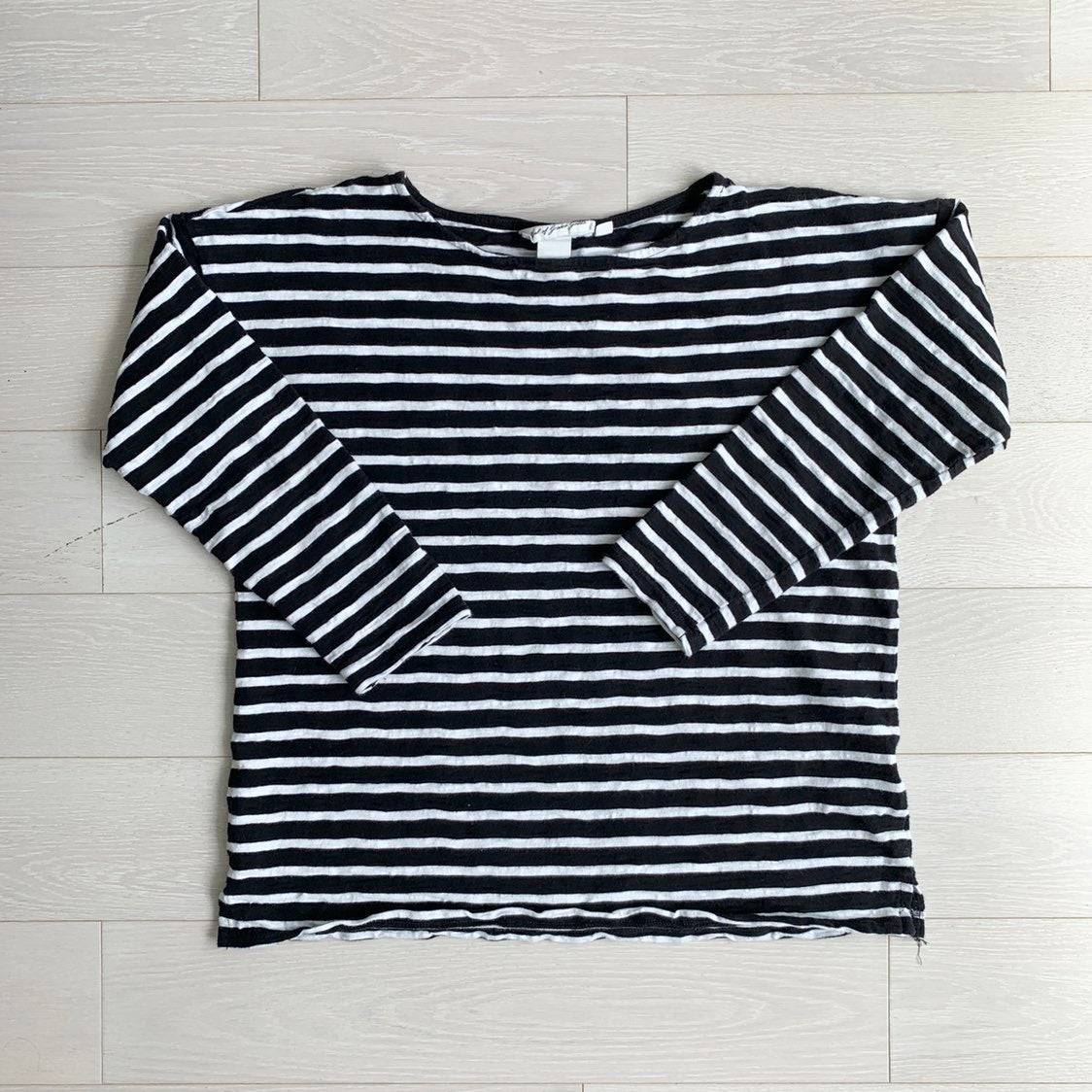 H&M Long Sleeve Striped Tee Thick Knit M