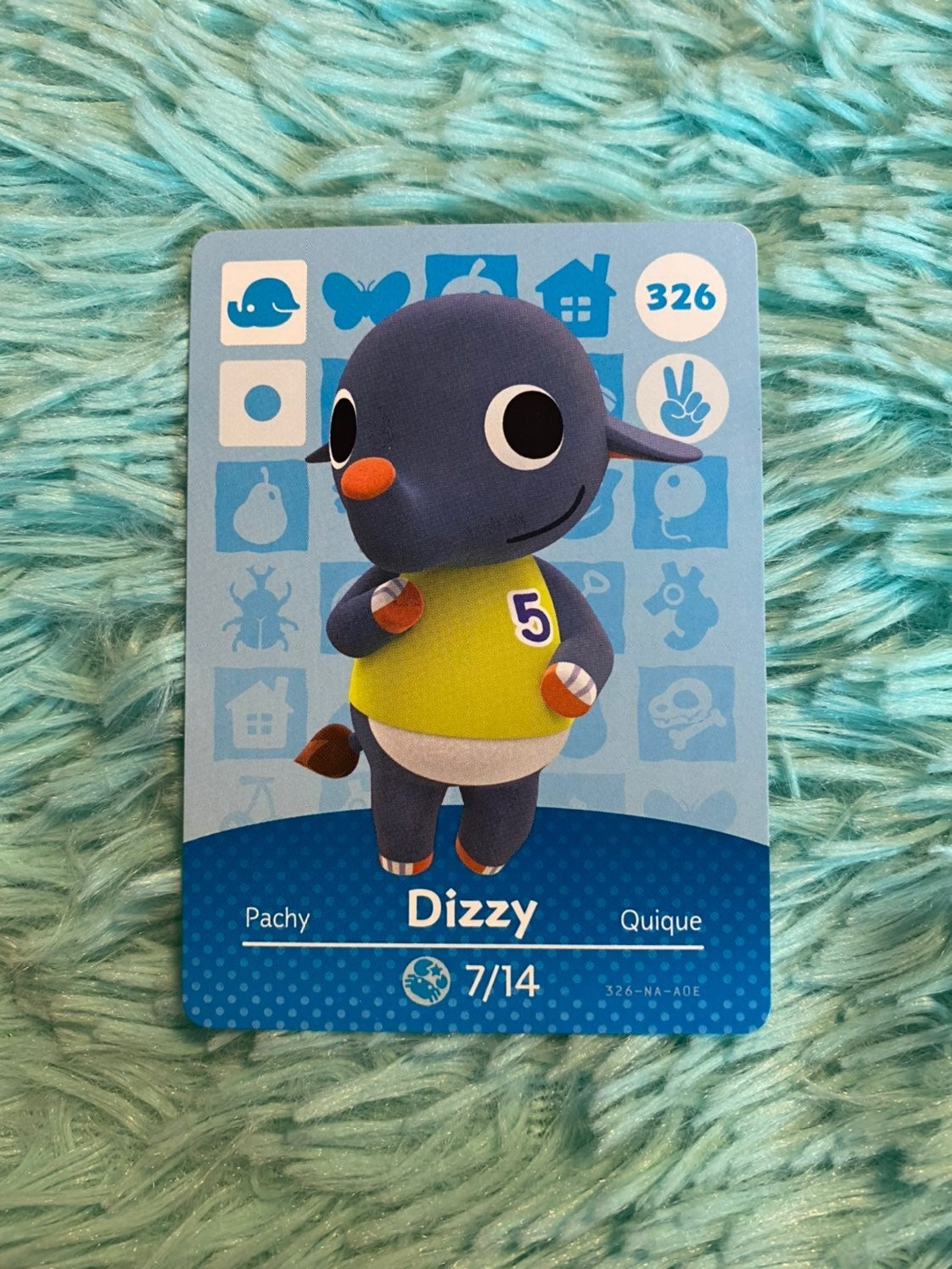 Dizzy - Animal Crossing Amiibo Card
