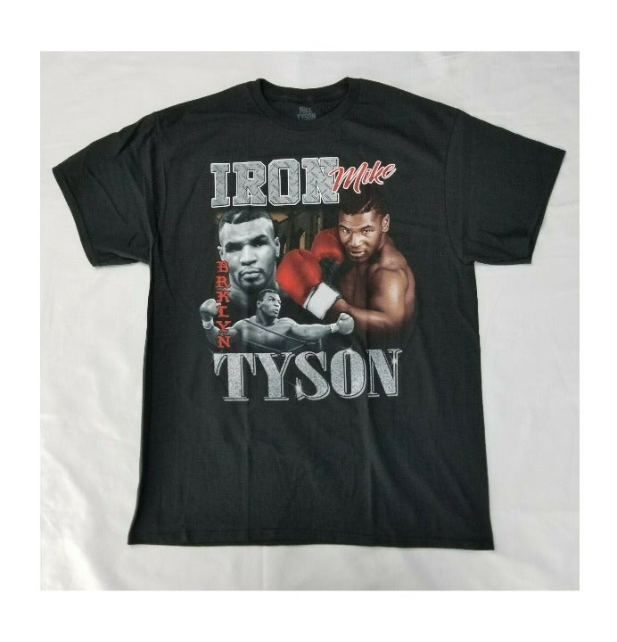 NWOT Mike Tyson Collage T-shirt Size XL