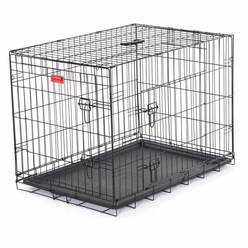 """lucky dog 2 door kennel 24"""""""