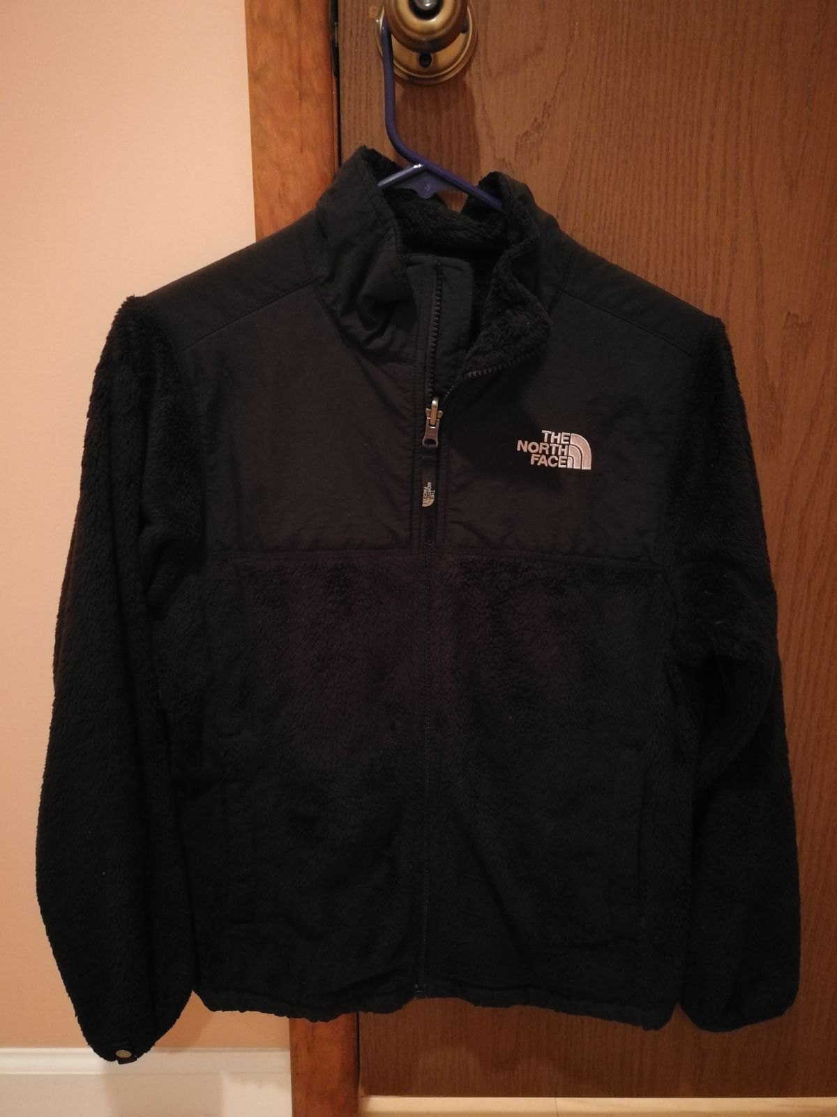 The North Face girls fuzzy jacket 14 16