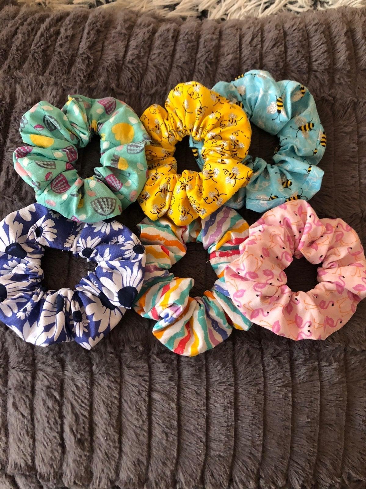 Spring scrunchies!!
