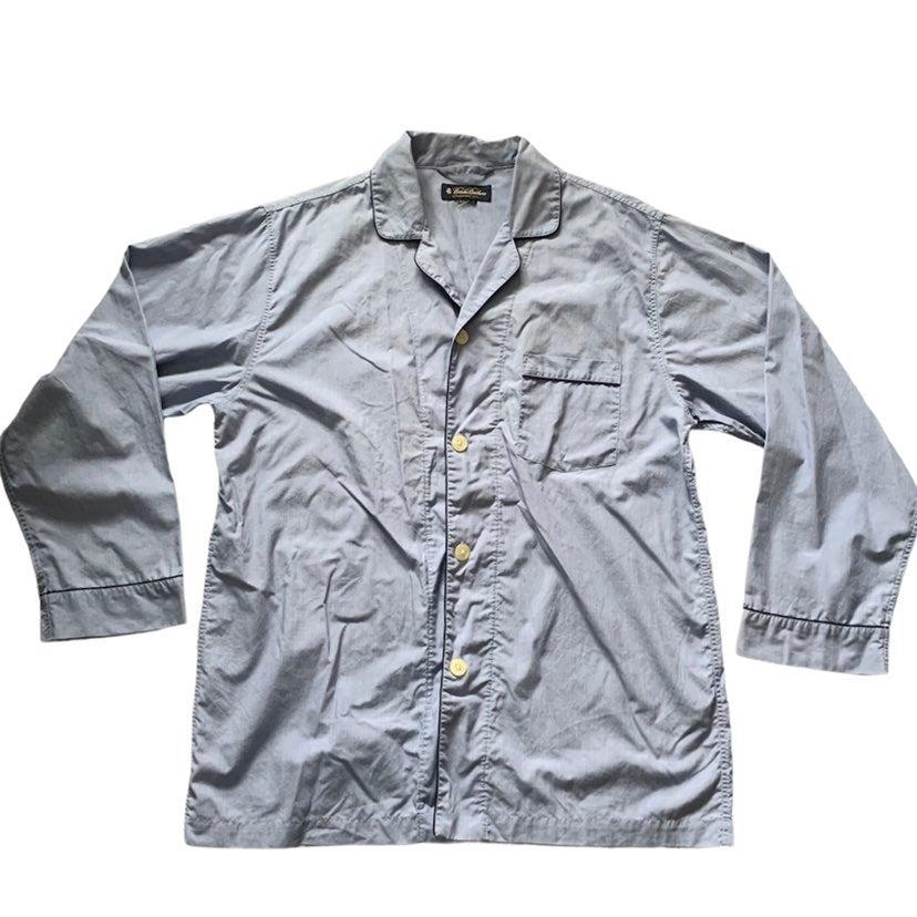 Brooks Brothers Blue Pajama Sleep Shirt