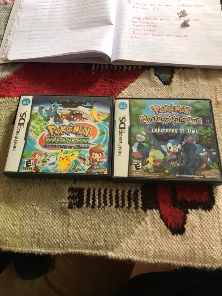 Two Pokemon Nintendo DS games