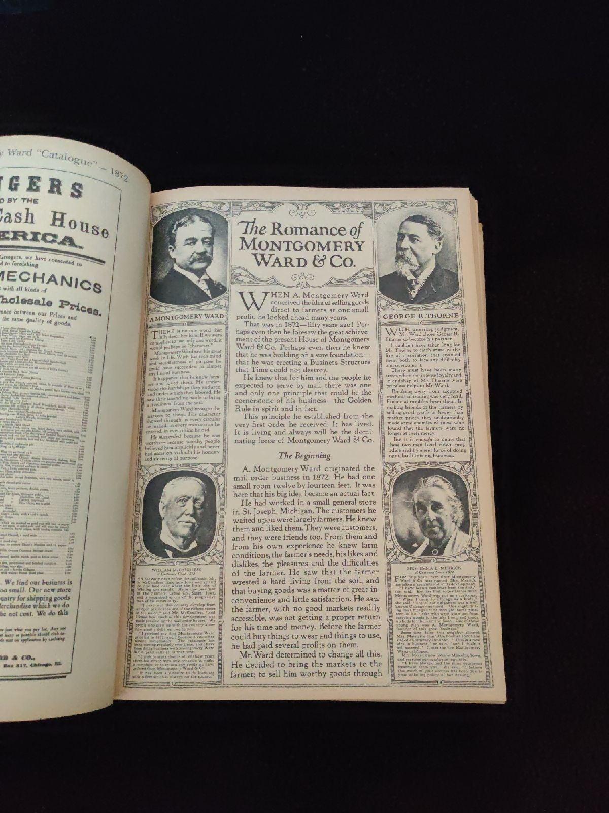 1922 Montgomery ward vintage catalogue.