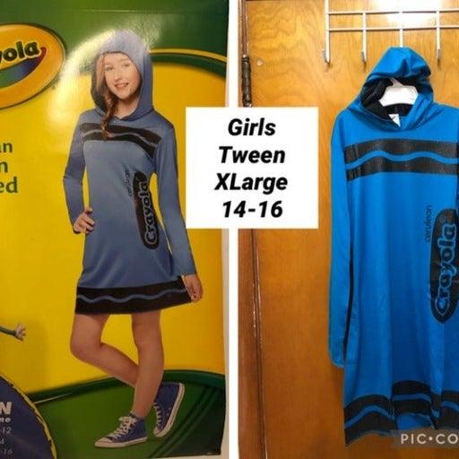 New Girls Tween Cerulean (Blue ) Crayola