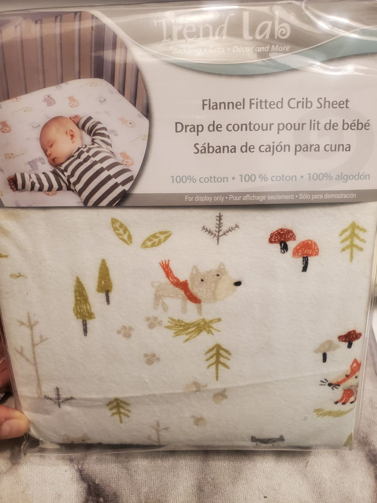NEW BABY Flannel Fitted Crib Sheet