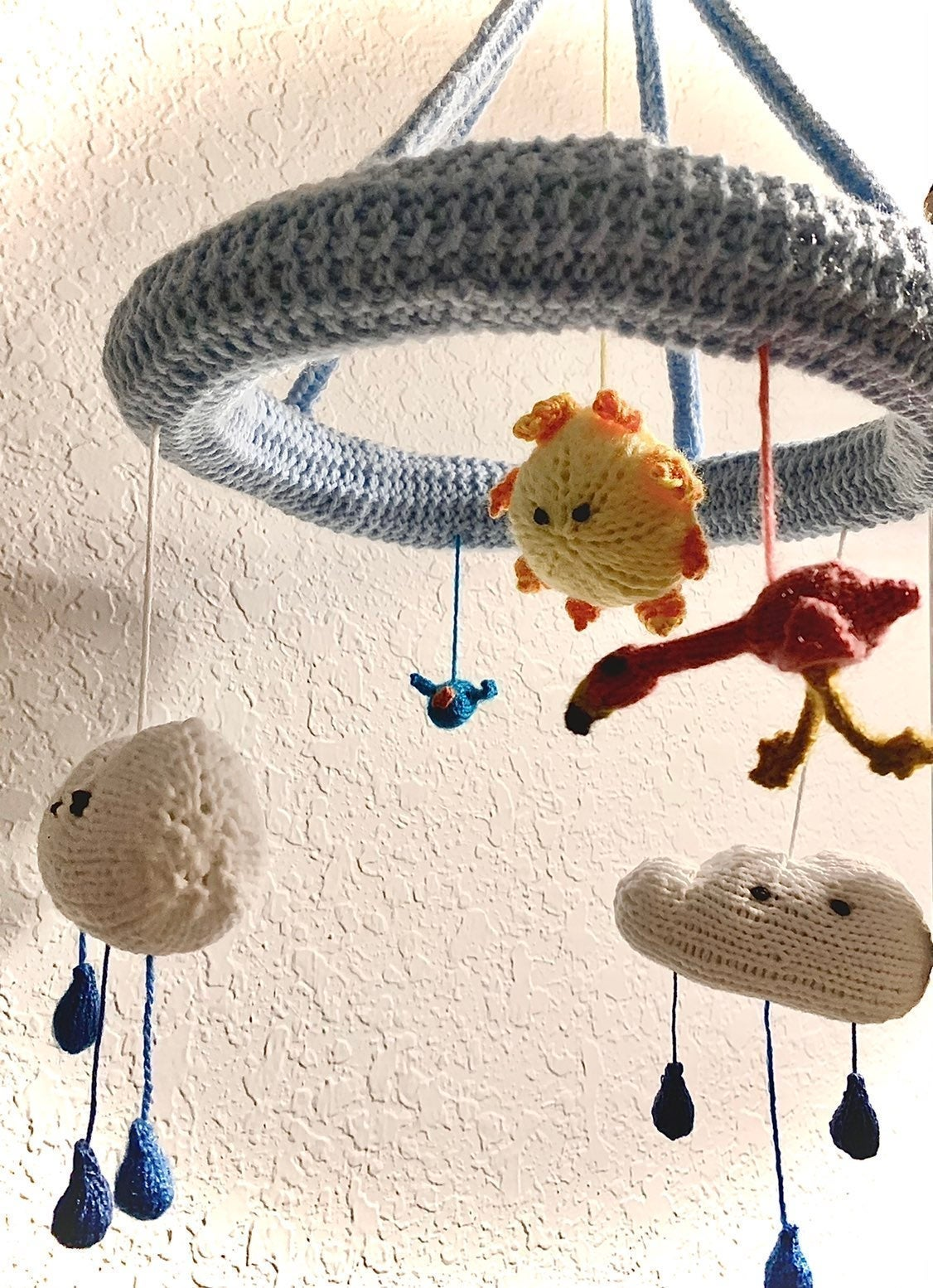 Knit baby mobile