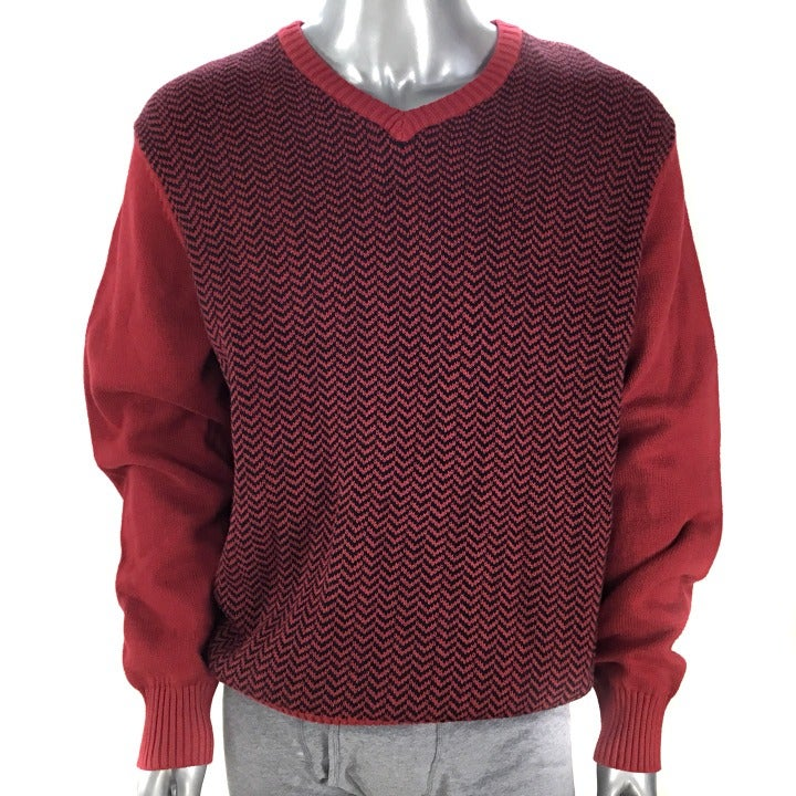 Geoffrey Beene Red V-Neck Sweater XL