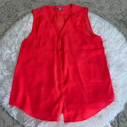✨AE Button Down Sleeveless Shirt