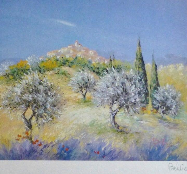 MARCEL BELVISI Olive Trees Signed Art
