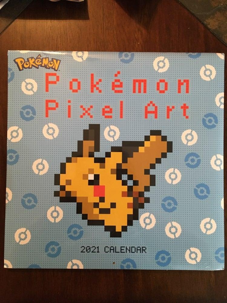 Pokemon Pixel Art 12 Month Calendar New