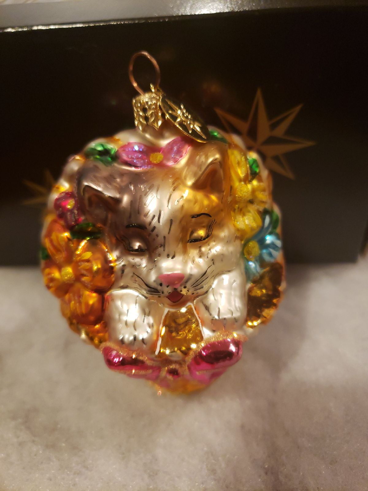 Christopher Radko Christmas Ornament Cat