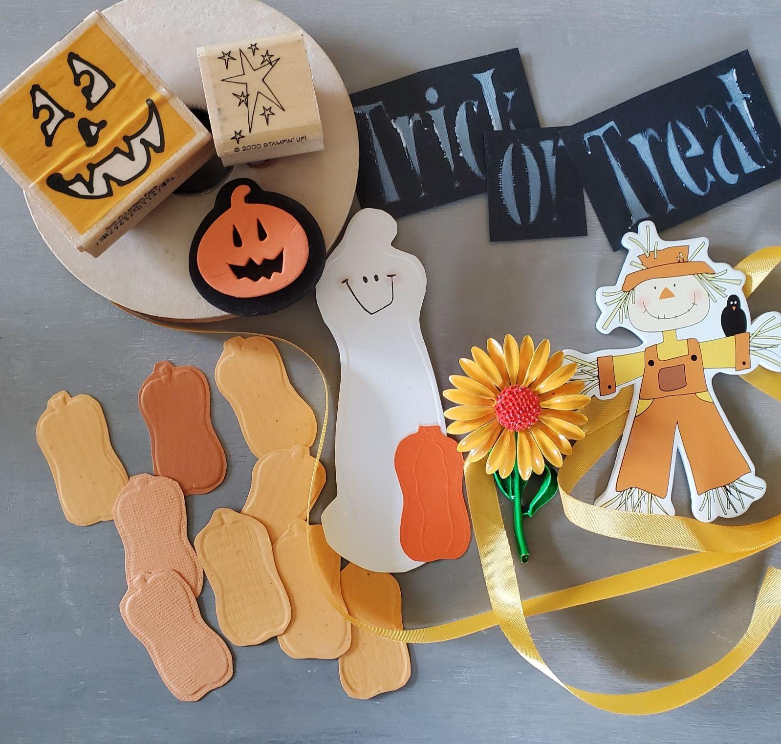 Halloween Themed Ephemera and Stamps