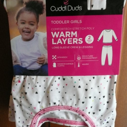 2 pc hearts CUDDL DUDS warm layers 5T