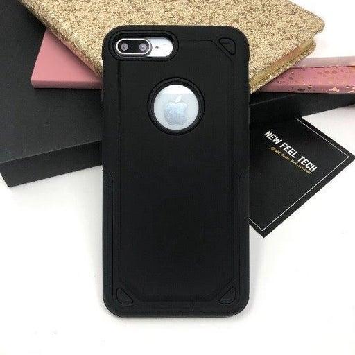 NEW iPhone 7+/8+Black Hybrid Armor Case