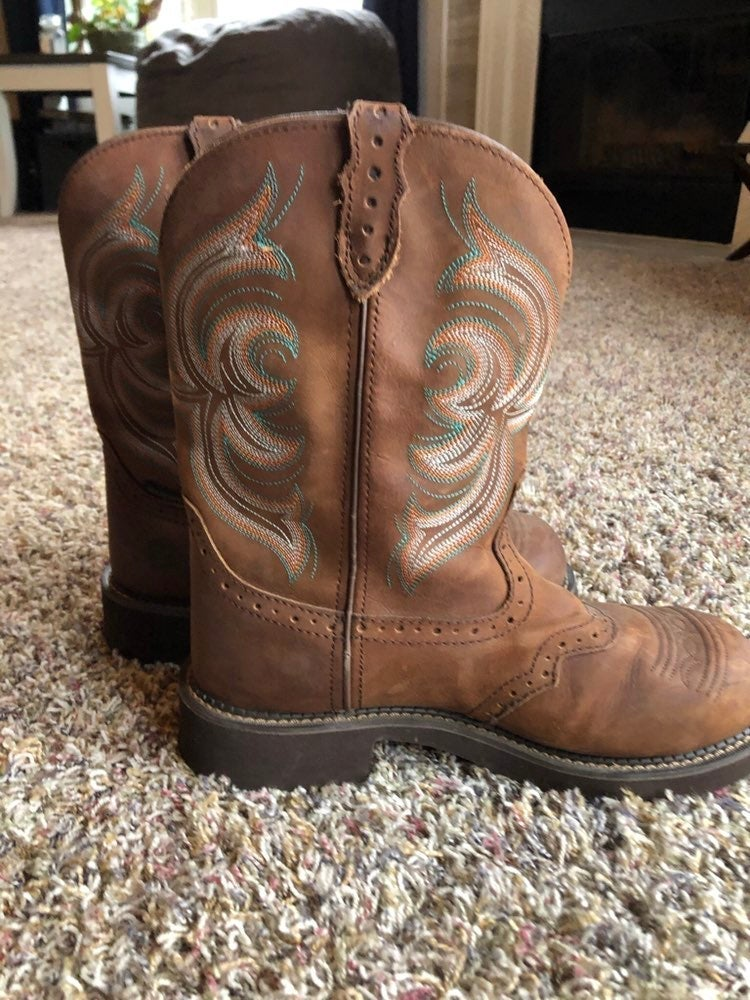 JUSTIN WOMAN'S 10B GYPSY WORK BOOTS