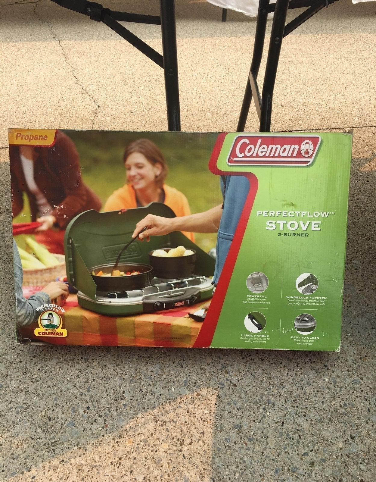 Coleman Perfectflow Stove 2 burner NIP