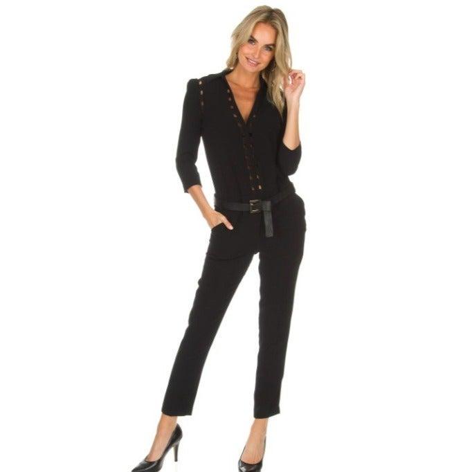 BA&SH Cokimi Jumpsuit in Black Size 2 (8