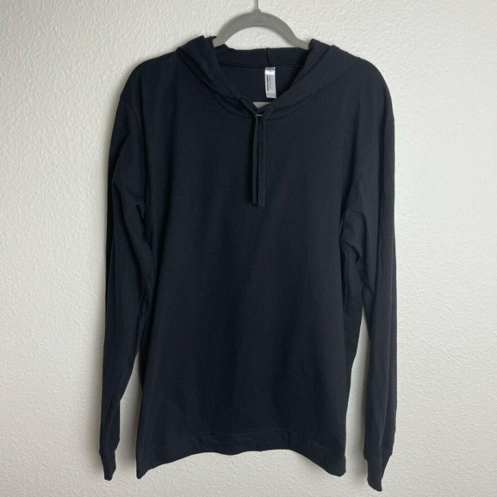 American Apparel L/S Hooded Sweater BLK