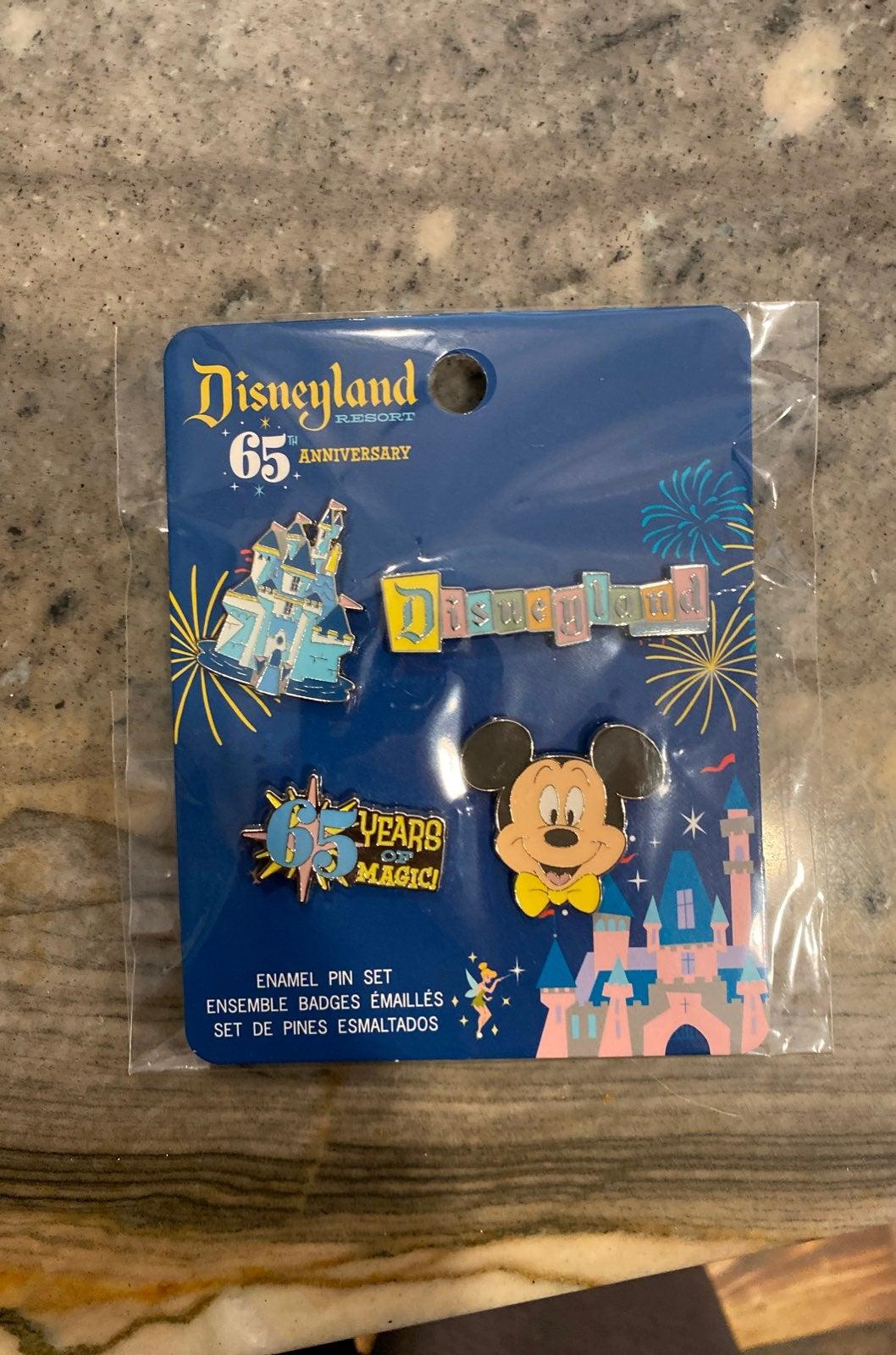 Disney 65th Anniversary pin set
