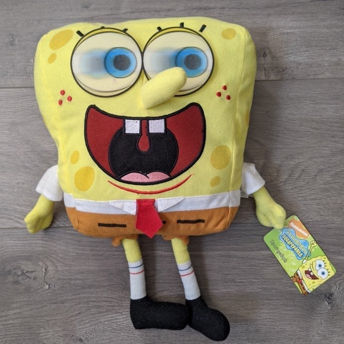 Large Spongebob Holigraphic Eyes Plush