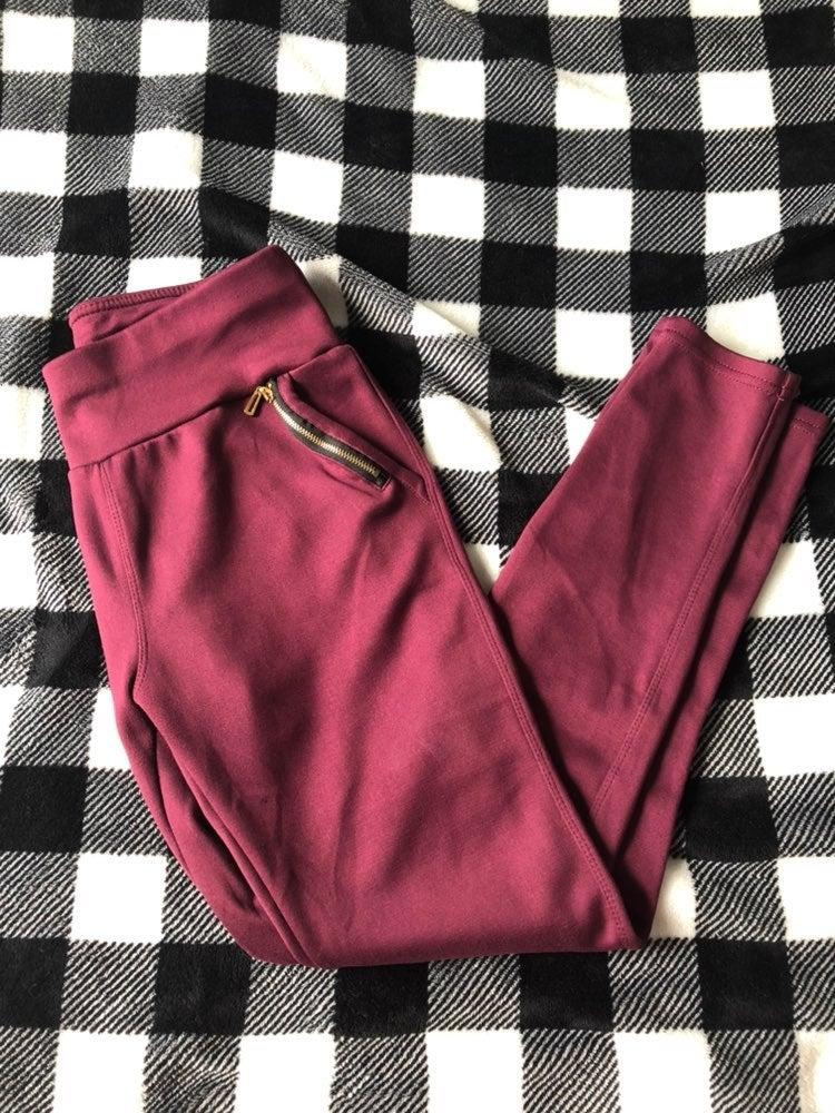Raseberry color legging pants