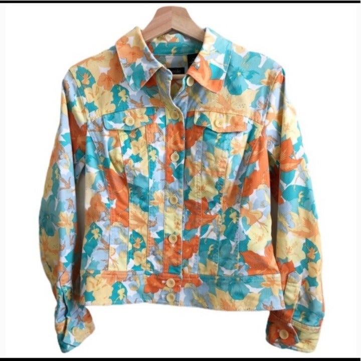 Nicole Miller Floral Twill Jacket