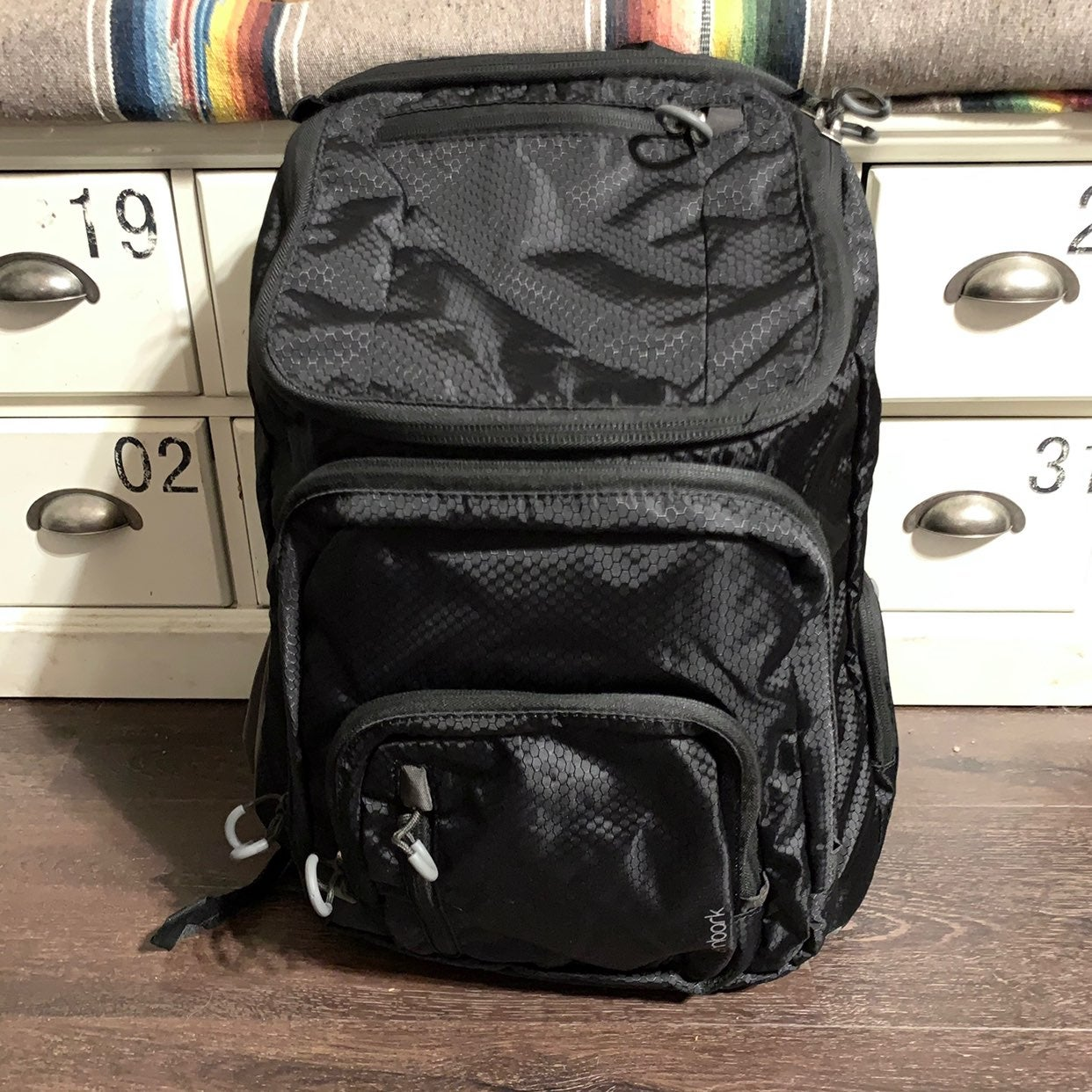 "Embark 19"" Jartop Black Laptop Backpack"