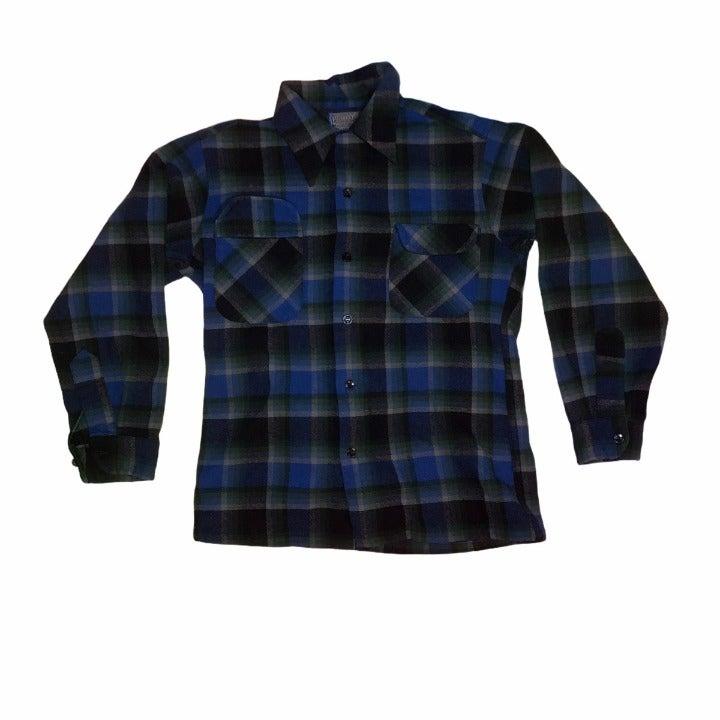 Vintage Pendleton blue flannel size medi