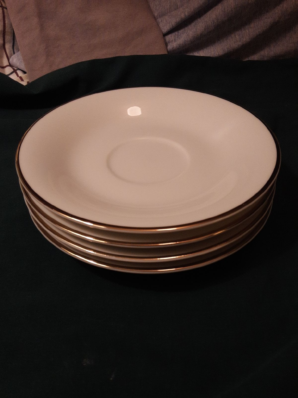 Macys Porcelain Saucer Set (4)
