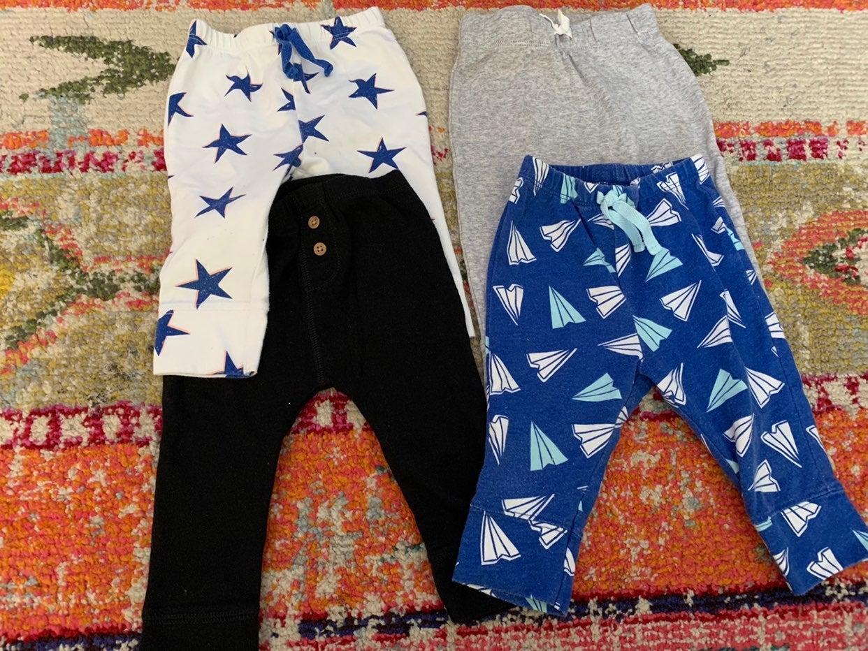 4 pair baby leggings - sz 6-9mo