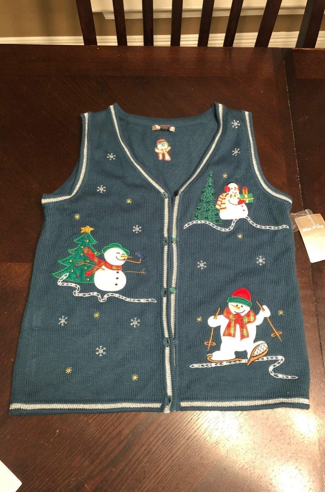Christmas Sweater Vest Small