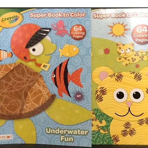 New 2 crayola coloring books