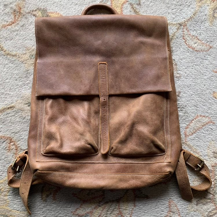 ROOTS OG Raiders Pack Leather Backpack
