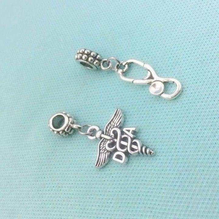 DA & Stethoscope Charms for Bracelet.