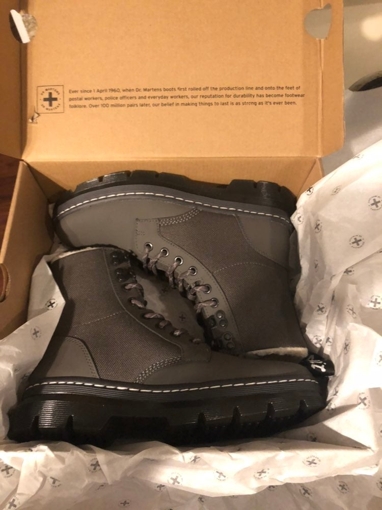 Nwt dr martens gray boots shoes womens 8