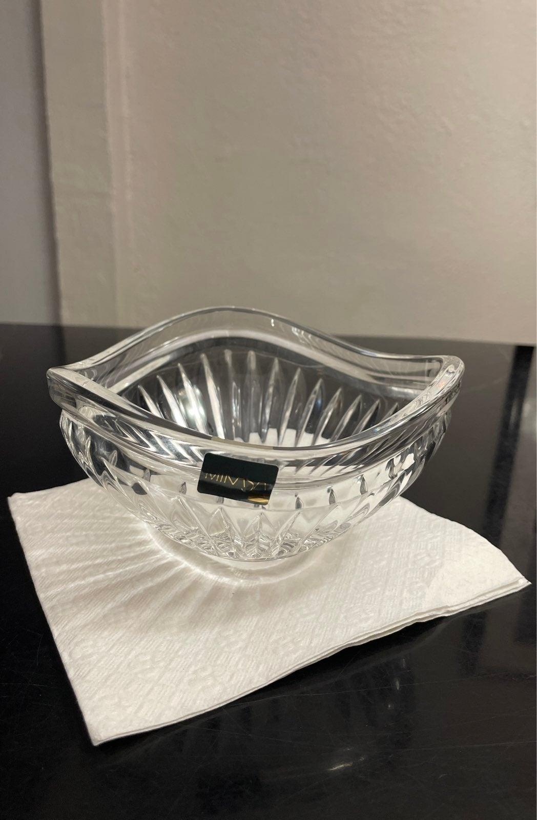 Mikasa Triangular crystal bowl