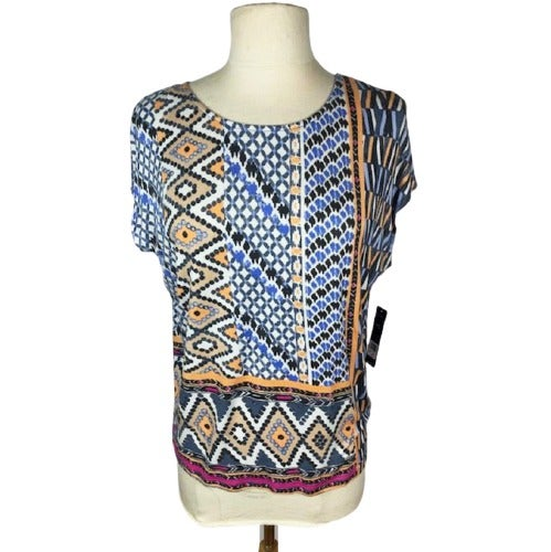Nic + Zoe Hand Painted Geometric Top PS