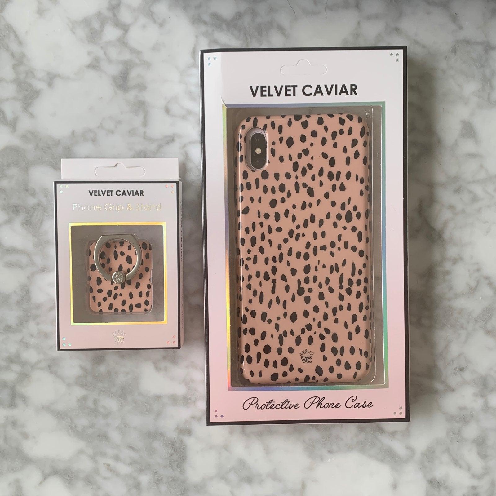 Velvet Caviar iPhone XS Max case & grip