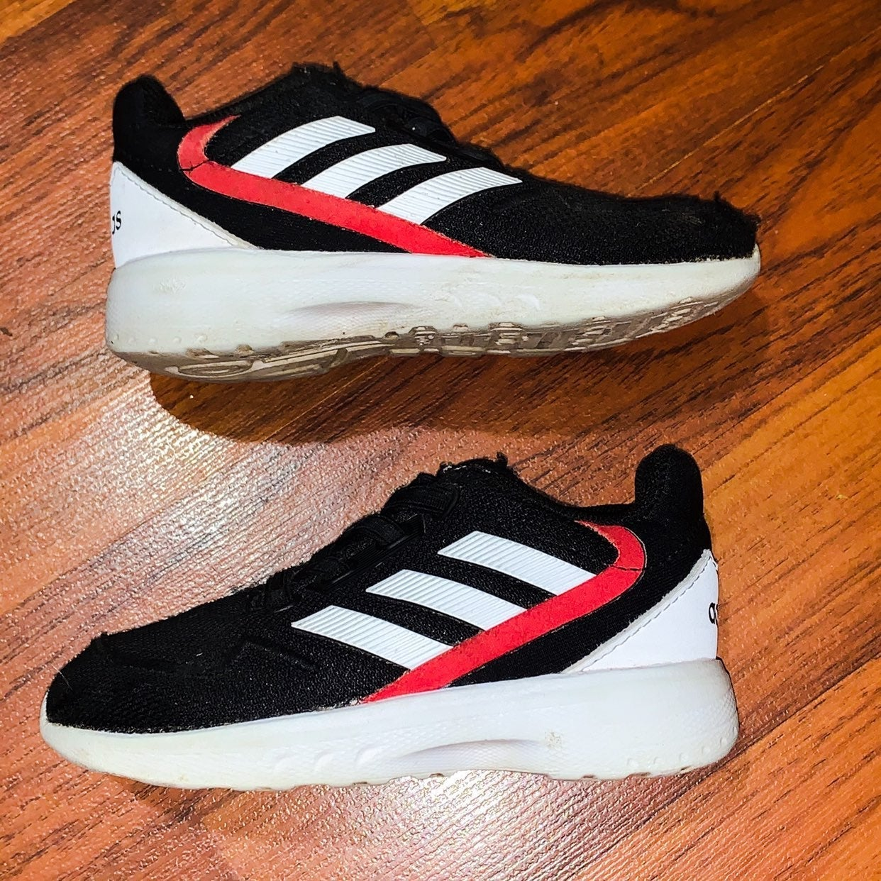 Adidas Infant Shoes Black/Red Size 6.5K