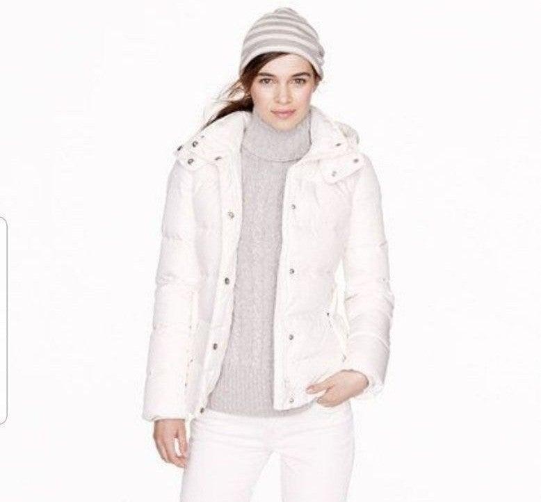 $400 J.Crew puffer jacket sz M