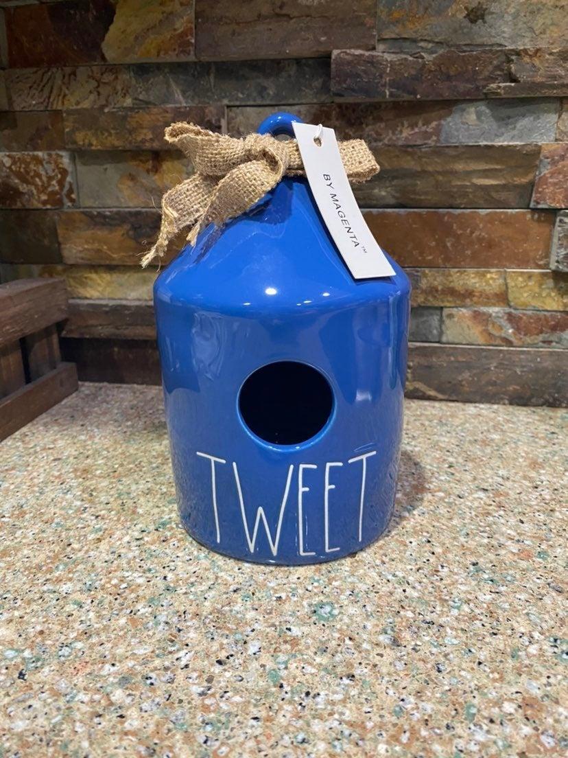 Rae Dunn Blue Tweet Birdhouse